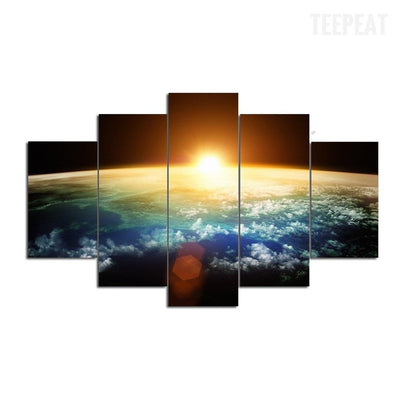 Sun In The Universe Painting - 5 Piece Canvas-Canvas-TEEPEAT