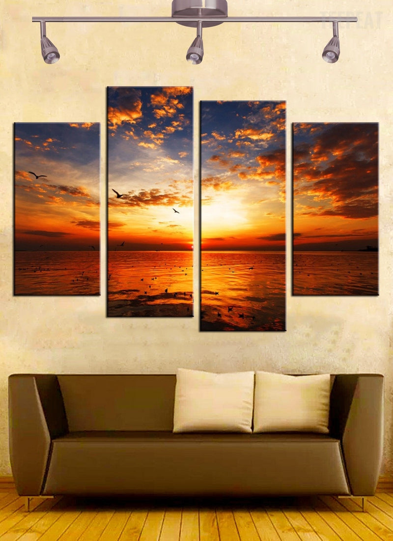 Sunset Seascape - 4 piece canvas - Empire Prints