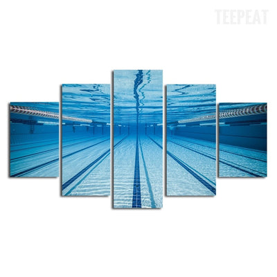 Swimming Pool Underwater View - 5 piece canvas