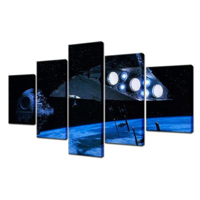 The Dark Side - 5 Piece Canvas Painting