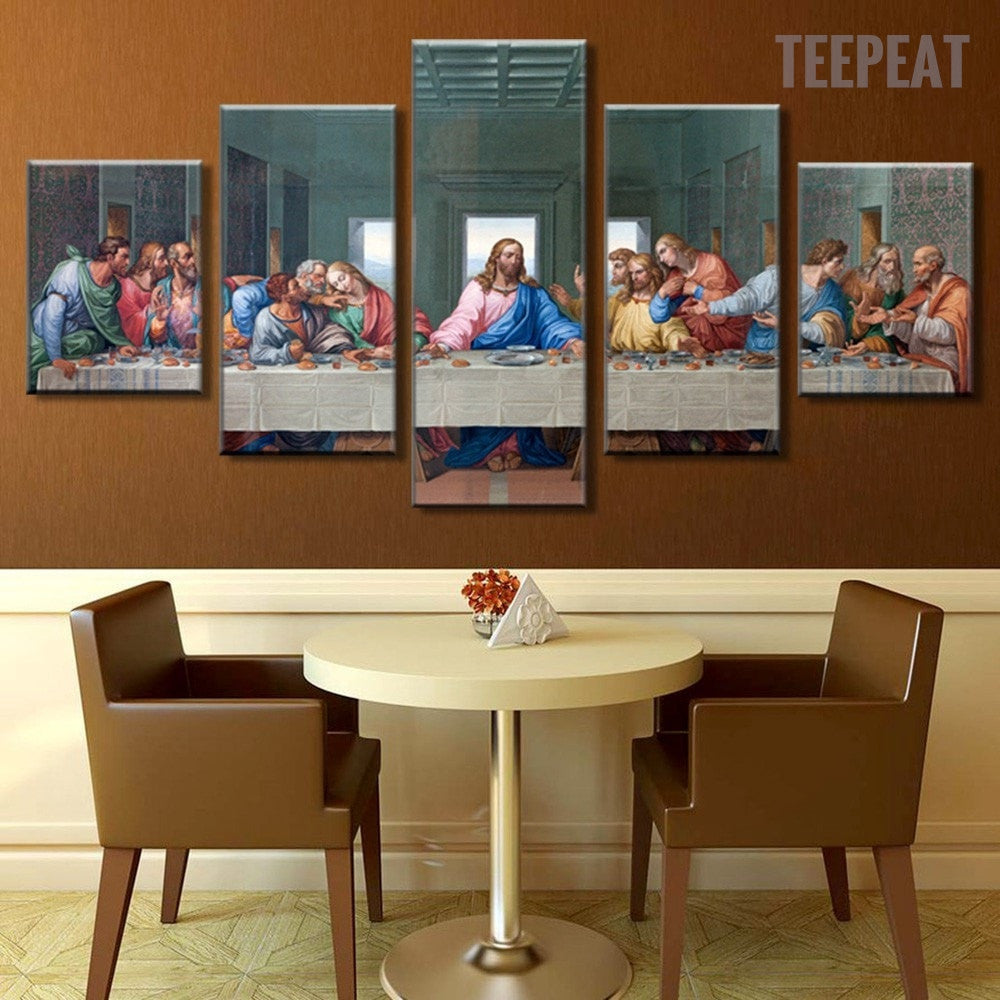 The Last Supper Painting - 5 Piece Canvas - Empire Prints