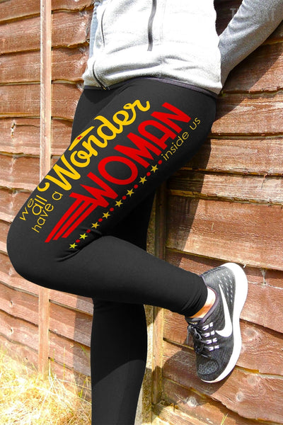 Wonder Woman Inside Us Leggings