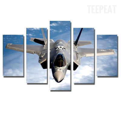 Fighter Aircraft Painting - 5 Piece Canvas