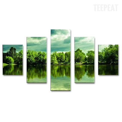 Green Lake Forest - 5 piece canvas