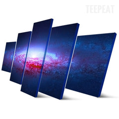 Galaxy Painting - 5 Piece Canvas