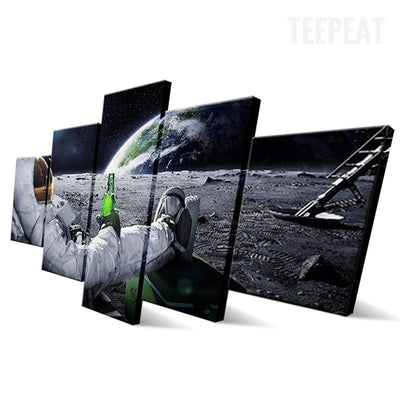 Outer Space Painting - 5 Piece Canvas