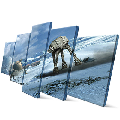 Star Wars: AT-AT Walkers Painting - 5 Piece Canvas
