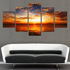 Sea Sunset - 5 Piece Canvas