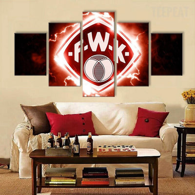 Wurzburger Kickers Sports Team - 5 Piece Canvas Painting