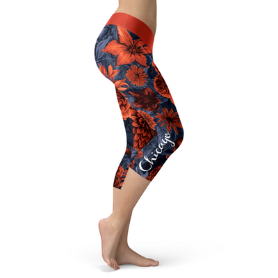 Chicago Flower Football Capris