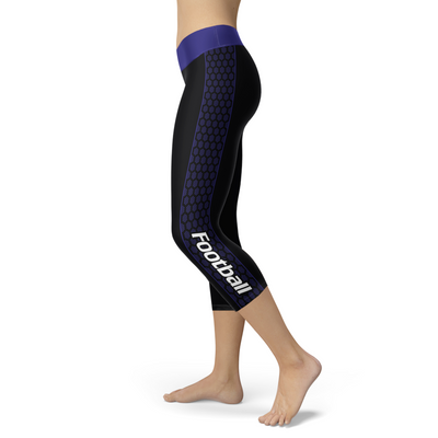 Baltimore Honeycomb Stripe Football Capris