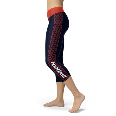 Chicago Honeycomb Stripe Football Capris
