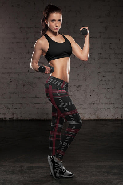 Atlanta Football Plaid Leggings