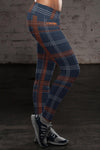Chicago Football Plaid Leggings