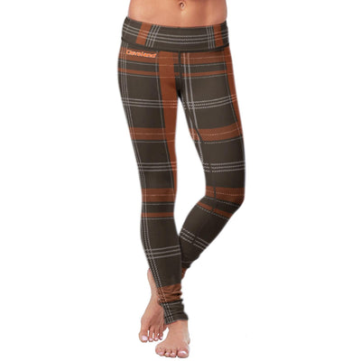 Cleveland Football Plaid Leggings