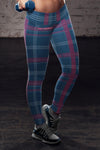 New England Football Plaid Leggings