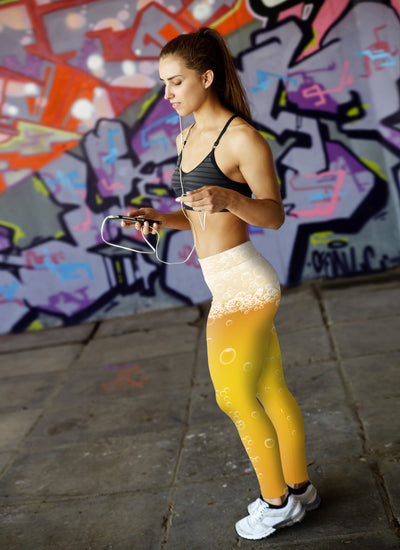 Beer Foam and Bubbles Leggings