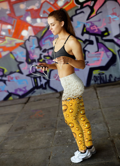 Beer Bubbles and Foam Leggings