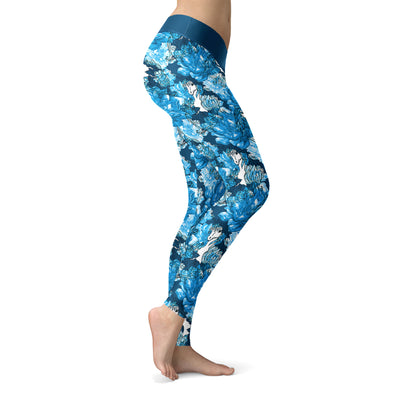 Watercolor Unicorn Flower Leggings