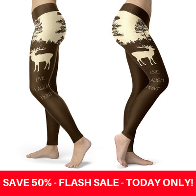 Live Laugh Hunt Leggings