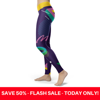 Abstract 80s Leggings