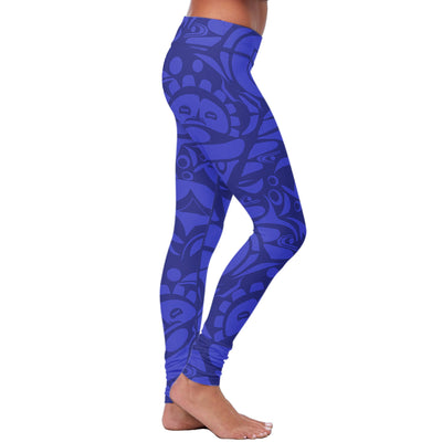 Blue Native Pattern Leggings