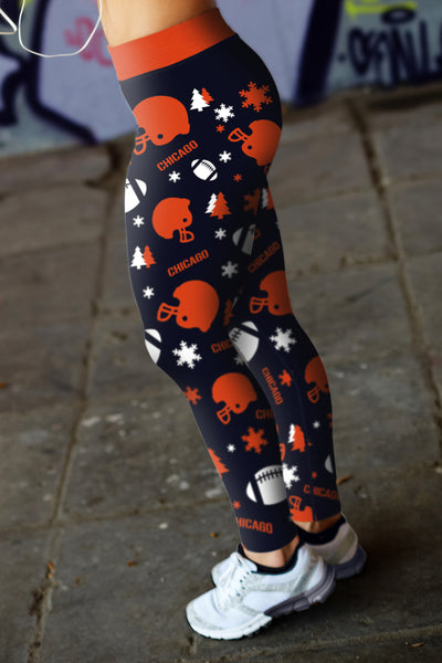 Chicago  Christmas  Football Leggings