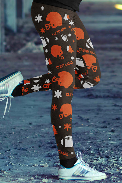Cleveland Christmas  Football Leggings