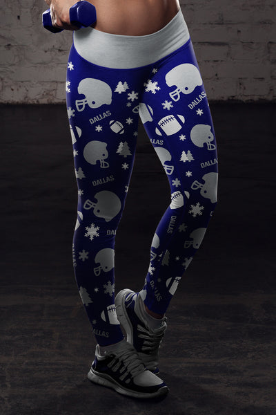 Dallas Ugly Christmas Football Leggings