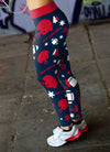 New England Christmas  Football Leggings