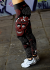 Black and Red Sugar Skull Leggings