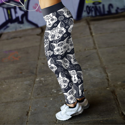 Sugar Skull Cats Leggings