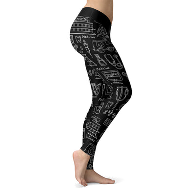 Black Nurse Leggings