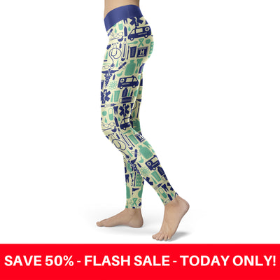 Blue and Green Nurse Leggings