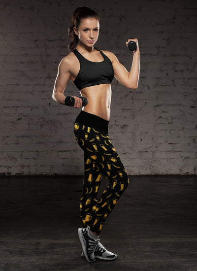 Black Beer Barley Leggings