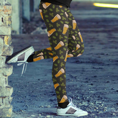 Beer and Leaves Leggings