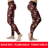 Burgundy Horse Leggings