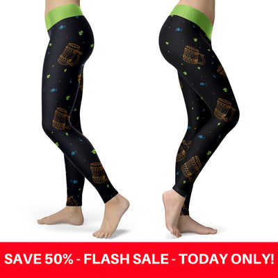 Beer Mug and Hops Leggings