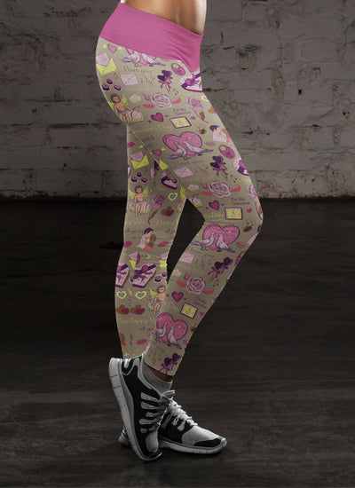 Birds in Love Leggings