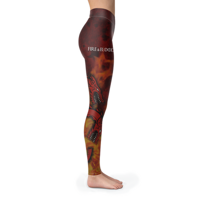 Fire And Blood Leggings