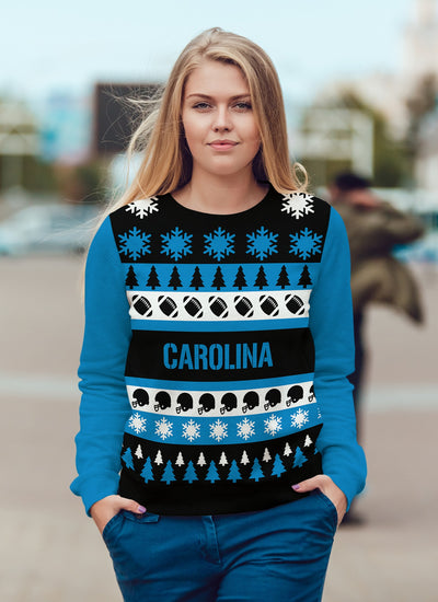 Carolina Football Ugly Christmas Sweatshirt