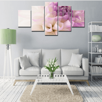 Purple Flowers Cuadros - 5 Piece Canvas Painting-Canvas-TEEPEAT