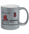 Spiderman Wants to Fight Metallic Mug