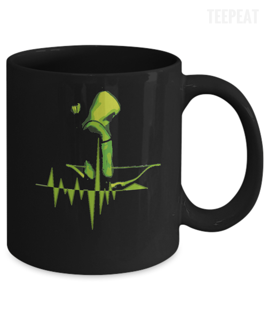Pulse Arrow Black Mug-Coffee Mug-TEEPEAT