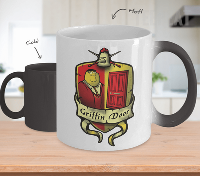Griffin Door Color Changing Mug-Coffee Mug-TEEPEAT