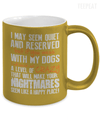 If You Mess With My Dogs Metallic Mug-Coffee Mug-TEEPEAT