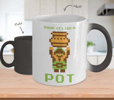 Pixel Drop Pot Color Changing Mug