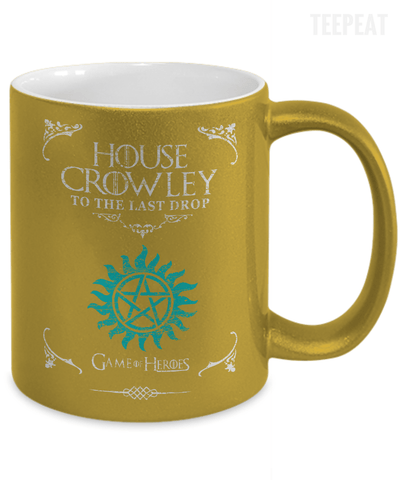 House of Crowley Metallic Mug-Coffee Mug-TEEPEAT