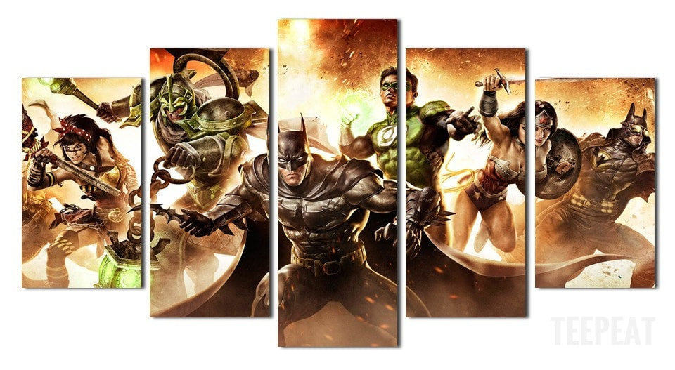 Justice League - 5 Piece Canvas LIMITED EDITION - The Nerd Cave - 1