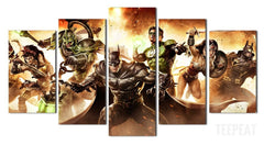 Justice League - 5 Piece Canvas LIMITED EDITION